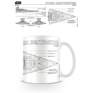 Star Wars, Destroyer Sketch Tasse