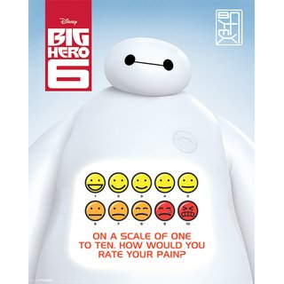 Big Hero 6, Rate Your Pain Poster