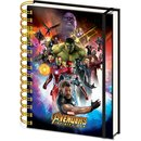 Avengers, Infinity War Space Montage Holographic A5 Wiro...