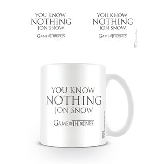 Game Of Thrones, You Know Nothing Jon Snow Tasse
