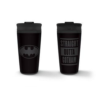 Batman, Straight Outta Gotham Metall Coffee To Go Becher
