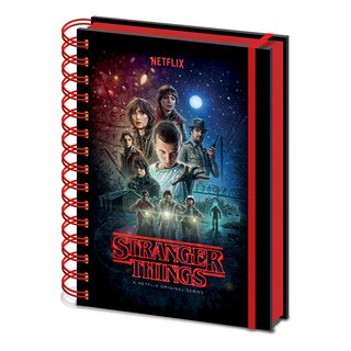 Stranger Things, One Sheet Wiro Notizbuch