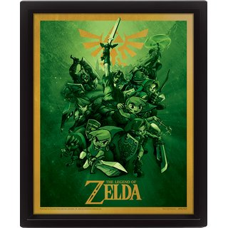 The Legend Of Zelda, Link 10x8 3D Bild