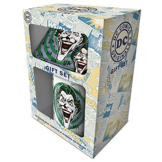 DC Originals, Joker Mug, Coaster & Keychain Set