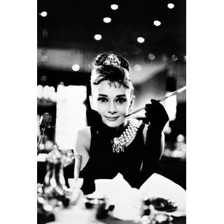 Audrey Hepburn, Breakfast at Tiffanys B&W Poster