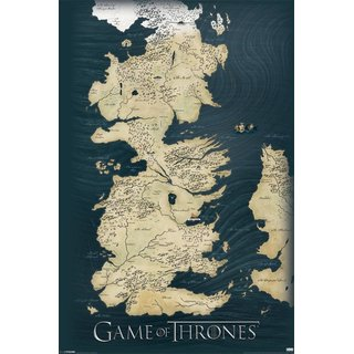 Game of Thrones, Map Poster