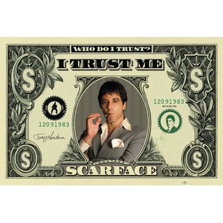 Scarface, Dollar Poster