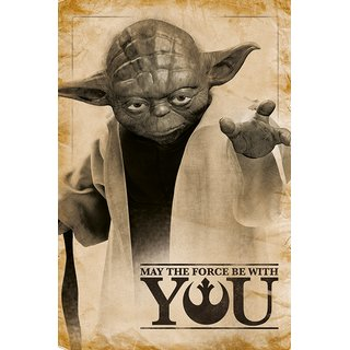 Star Wars, Yoda, May The Force Be With You Poster